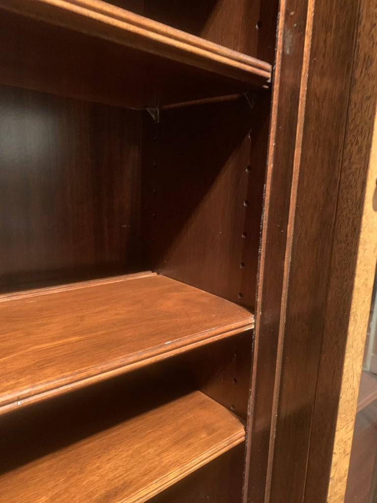 Diminutive Adam Style Breakfront Bookcase or China Cabinet by F&G Furniture Co For Sale 3