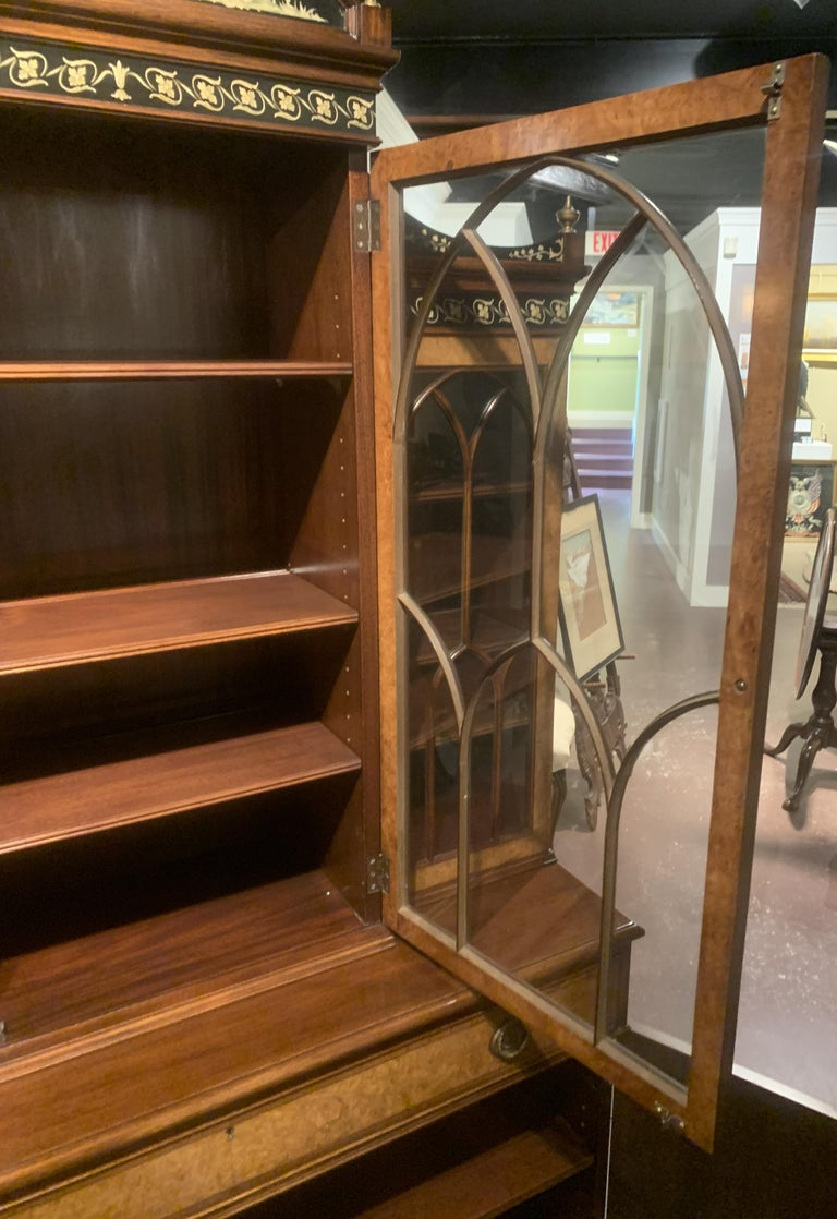 20th Century Diminutive Adam Style Breakfront Bookcase or China Cabinet by F&G Furniture Co For Sale