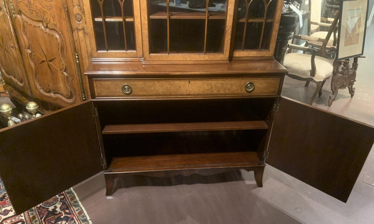 Diminutive Adam Style Breakfront Bookcase or China Cabinet by F&G Furniture Co For Sale 1