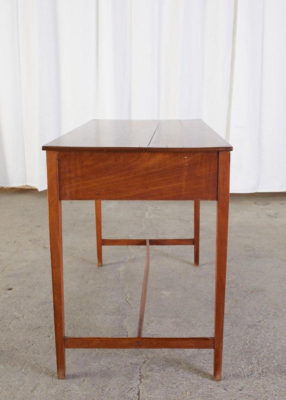 Diminutive American Federal Mahogany Writing Table Desk For Sale 5