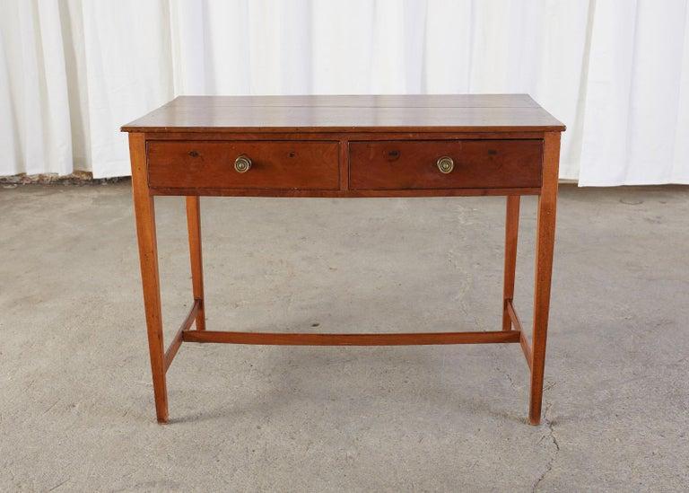 Diminutive American Federal Mahogany Writing Table Desk For Sale 6