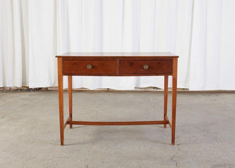 Diminutive American Federal Mahogany Writing Table Desk For Sale 7