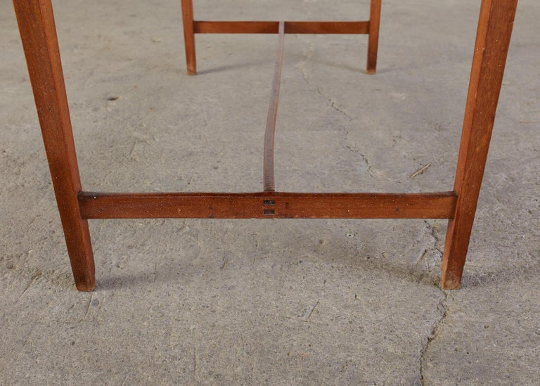 Diminutive American Federal Mahogany Writing Table Desk For Sale 9