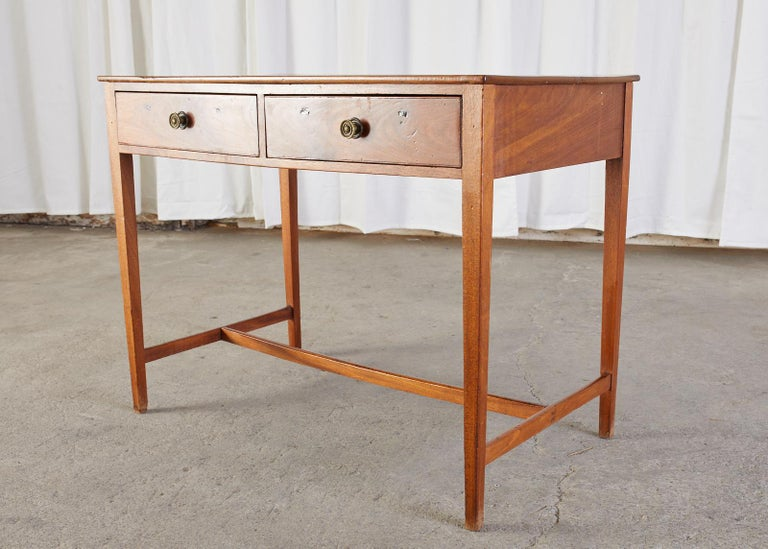 Hand-Crafted Diminutive American Federal Mahogany Writing Table Desk For Sale