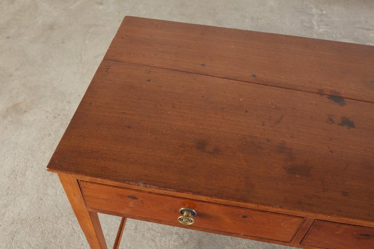 19th Century Diminutive American Federal Mahogany Writing Table Desk For Sale