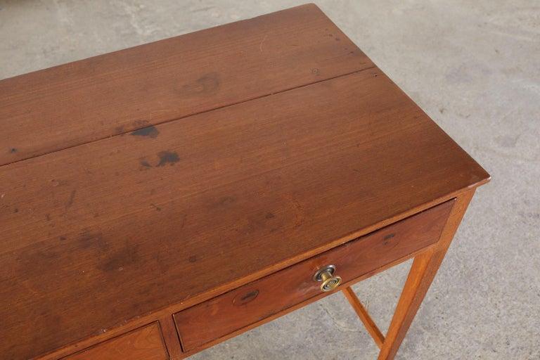 Diminutive American Federal Mahogany Writing Table Desk For Sale 1