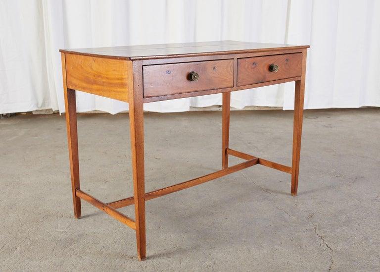 Diminutive American Federal Mahogany Writing Table Desk For Sale 2