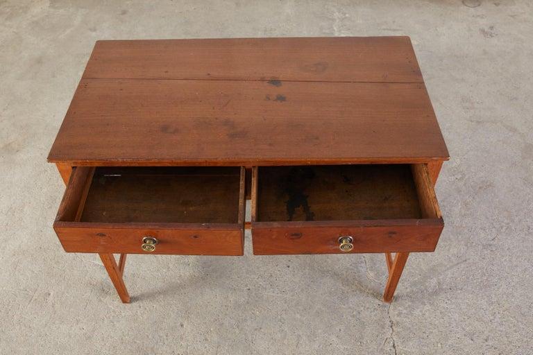Diminutive American Federal Mahogany Writing Table Desk For Sale 3
