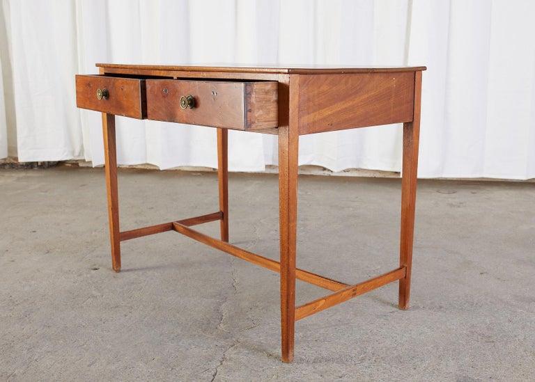 Diminutive American Federal Mahogany Writing Table Desk For Sale 4