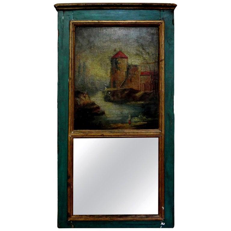 Diminutive Antique French Louis XVI Style Trumeau For Sale