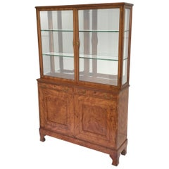 Diminutive Biedermeier Cabinet with Beveled Glass