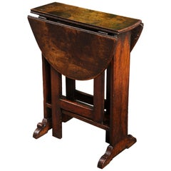 Diminutive Charles II Solid Oak Gate-Leg Table, English, circa 1660