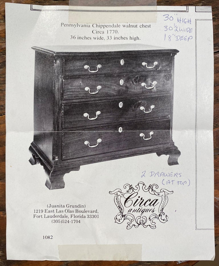 Diminutive Chippendale Mahogany Chest Adapted From a Larger 18th Century Chest For Sale 6