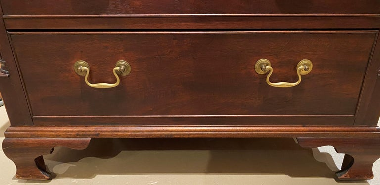 Hand-Carved Diminutive Chippendale Mahogany Chest Adapted From a Larger 18th Century Chest For Sale