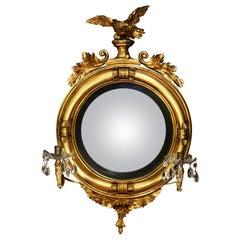 Diminutive Federal or Regency Girandole Mirror with Egyptian Motifs