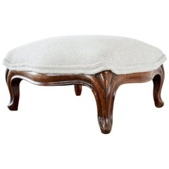 Diminutive French Louis XV Style Walnut Footstool