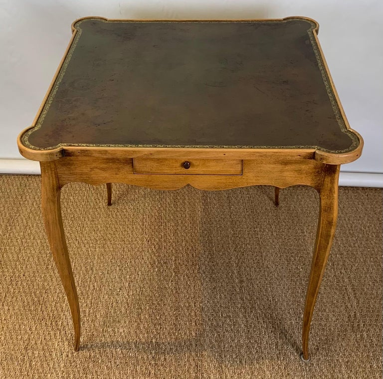 Diminutive Leather Topped Games Table For Sale 2