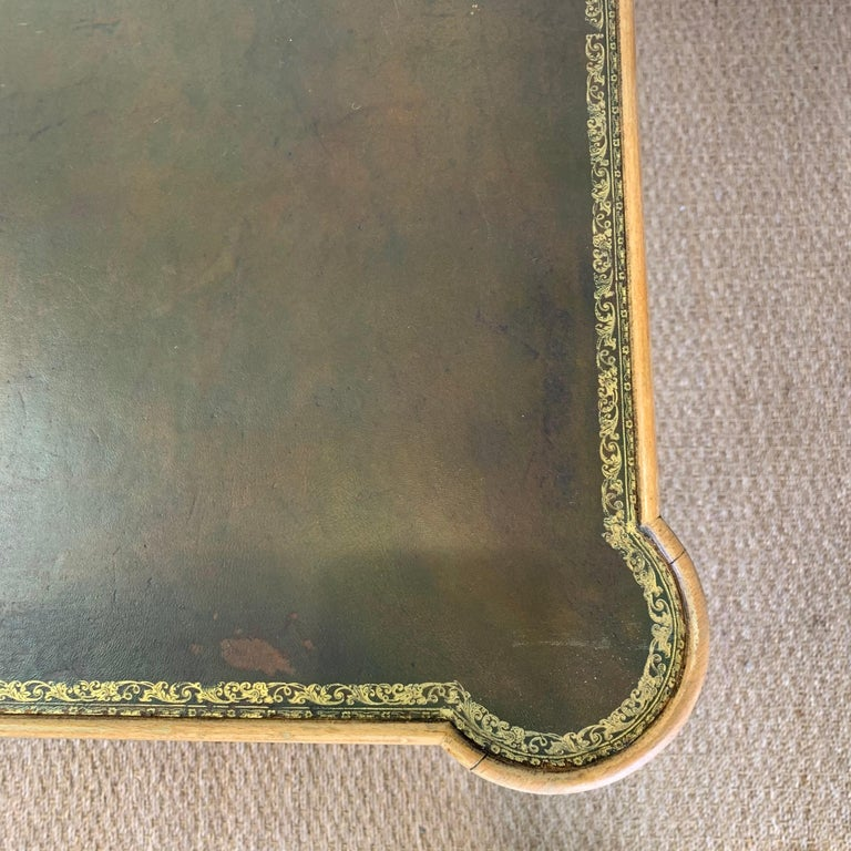Diminutive Leather Topped Games Table For Sale 3