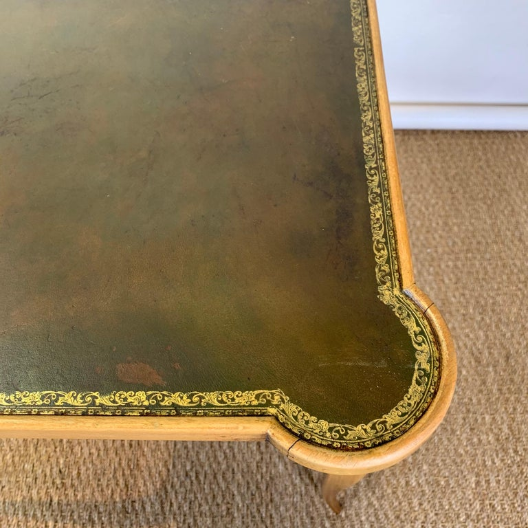Diminutive Leather Topped Games Table For Sale 5