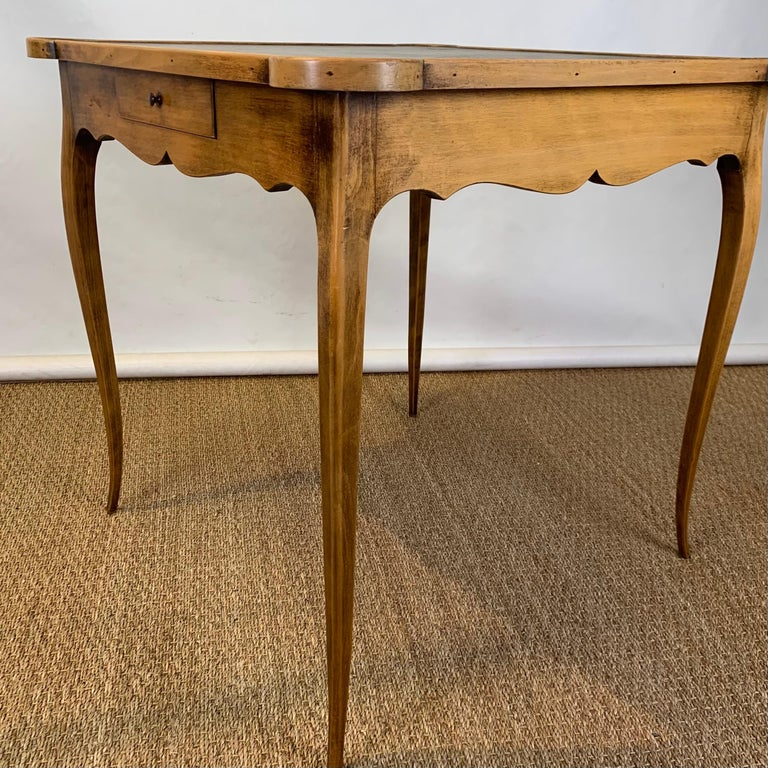 Diminutive Leather Topped Games Table For Sale 7