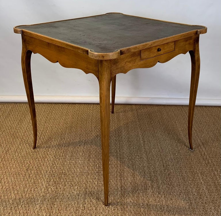 Louis XVI Diminutive Leather Topped Games Table For Sale