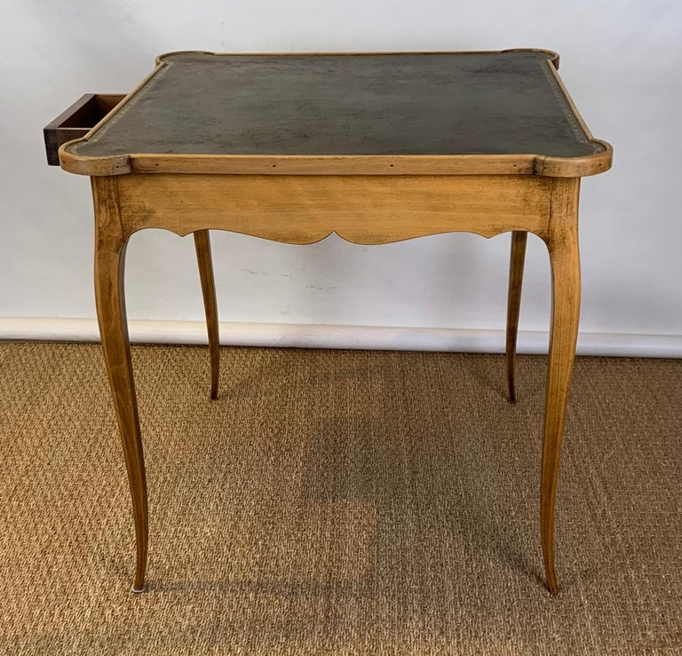 Mid-20th Century Diminutive Leather Topped Games Table For Sale