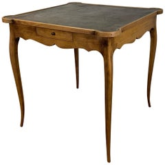 Diminutive Leather Topped Games Table