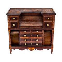 Diminutive Mahogany Chest with Tambour Desk