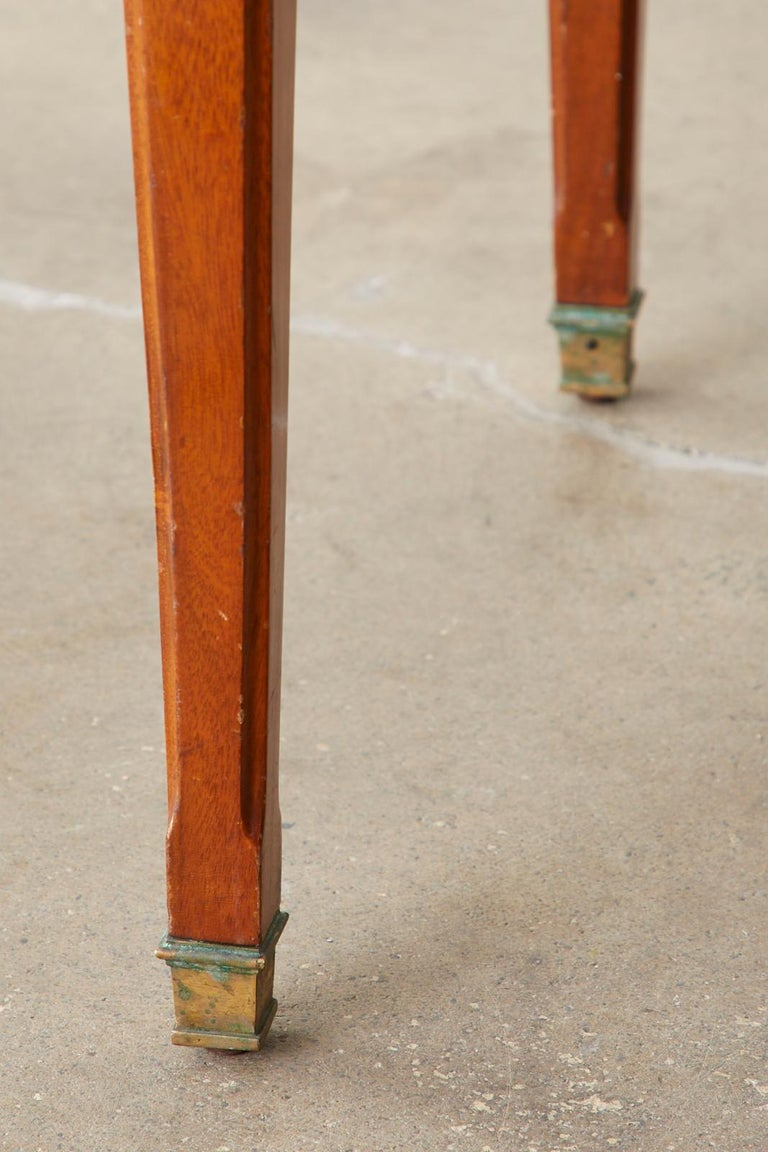 Diminutive Maison Jansen Mahogany Bronze Mounted Writing Desk For Sale 4