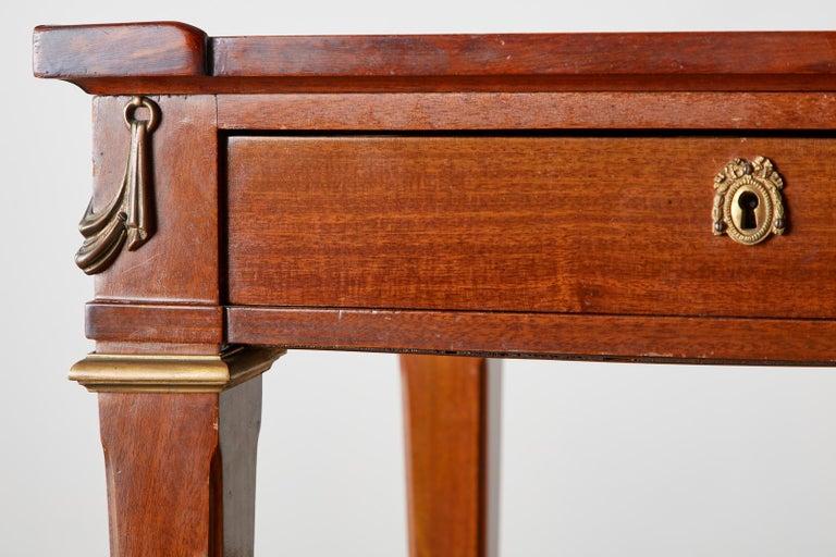 Diminutive Maison Jansen Mahogany Bronze Mounted Writing Desk For Sale 5