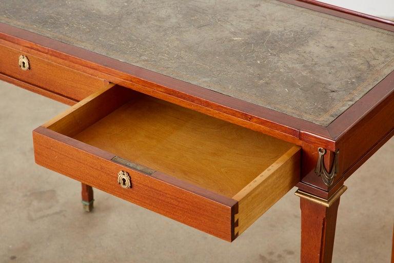 20th Century Diminutive Maison Jansen Mahogany Bronze Mounted Writing Desk For Sale