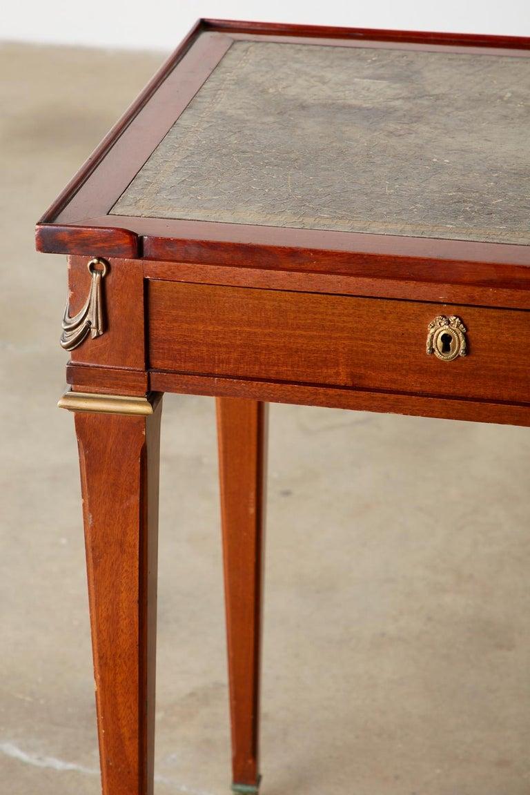 Diminutive Maison Jansen Mahogany Bronze Mounted Writing Desk For Sale 2