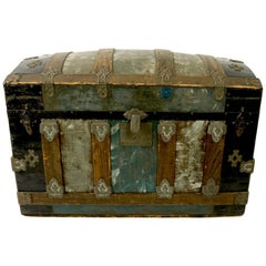 Diminutive Polychrome Dome Top Trunk