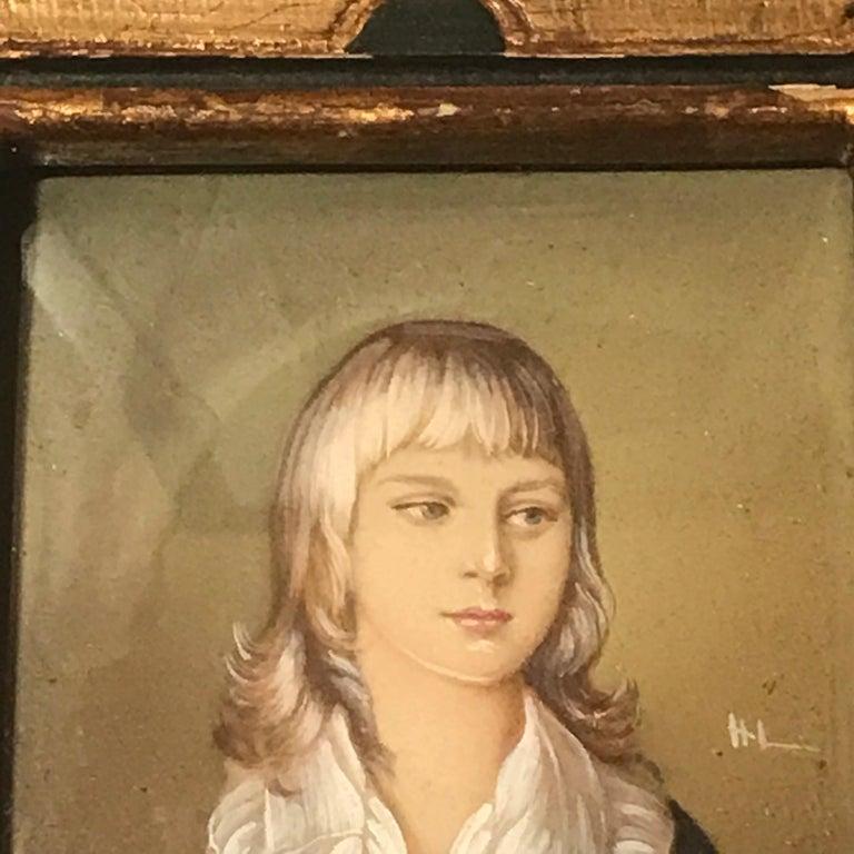 20th Century Diminutive Portrait Painting 'B' For Sale