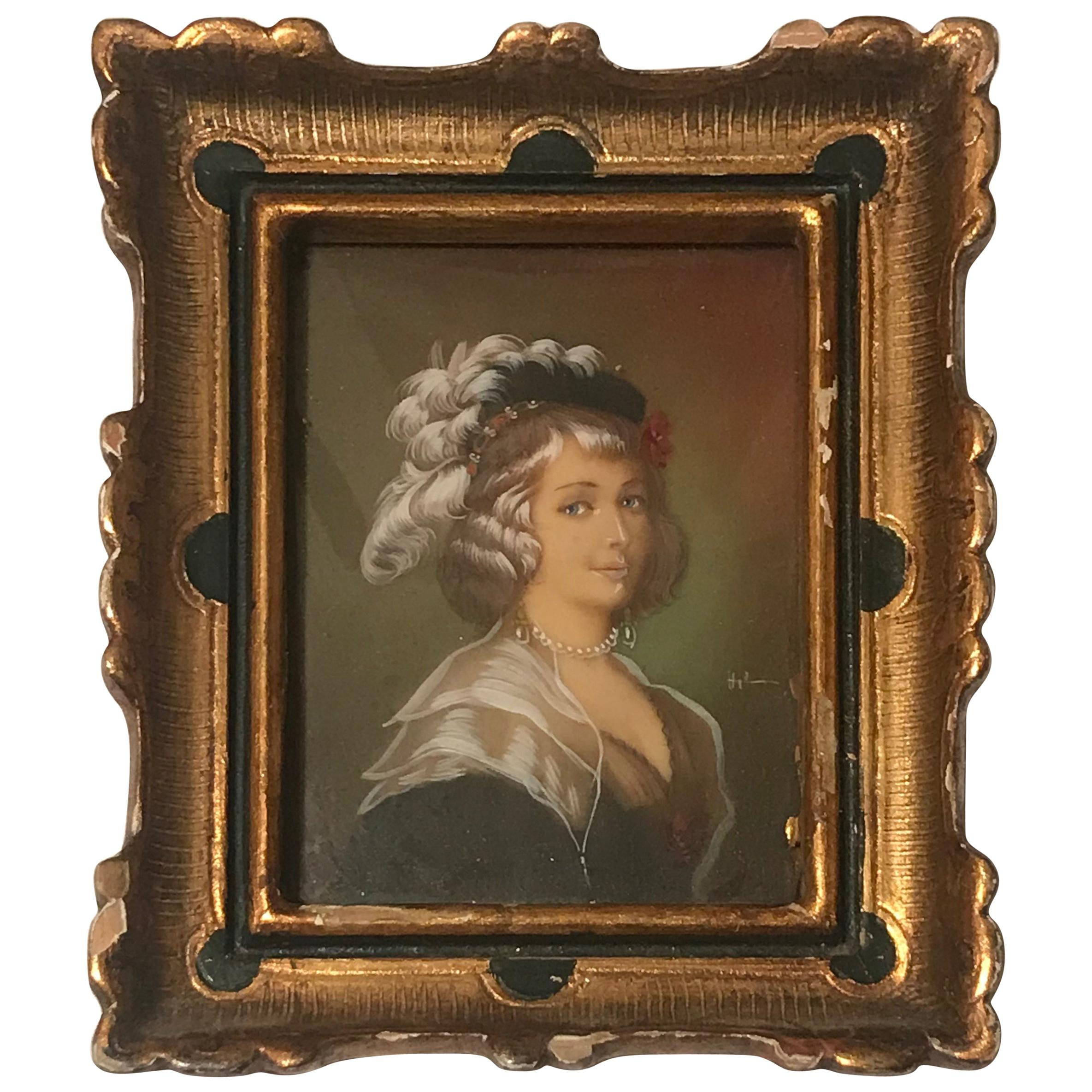 Diminutive Portrait Painting 'C'