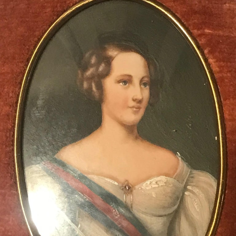 Diminutive Portrait Paintings 'A' In Good Condition For Sale In Washington Crossing, PA
