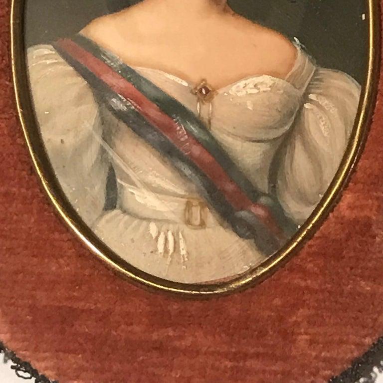 20th Century Diminutive Portrait Paintings 'A' For Sale