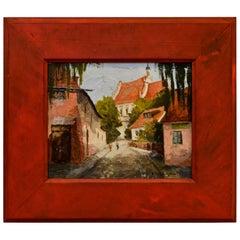 Diminutive Provincial Oil Painting