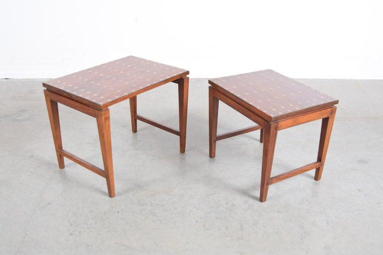 Indian Diminutive Set of Nesting Tables by Leela Shiveshwarkar For Sale