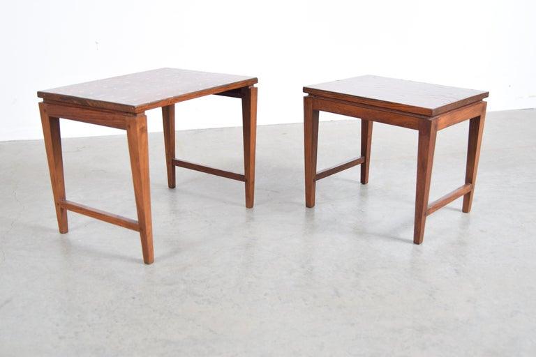 Inlay Diminutive Set of Nesting Tables by Leela Shiveshwarkar For Sale