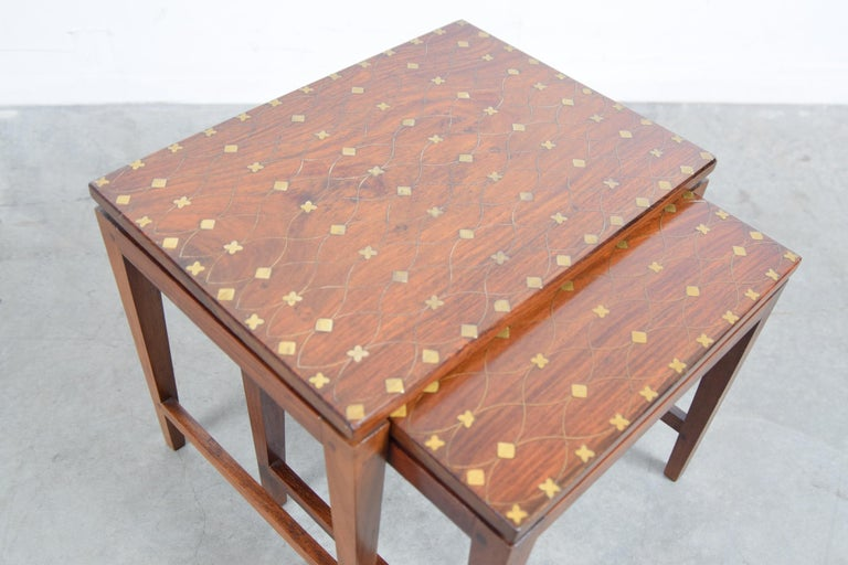 Diminutive Set of Nesting Tables by Leela Shiveshwarkar In Good Condition For Sale In Providence, RI