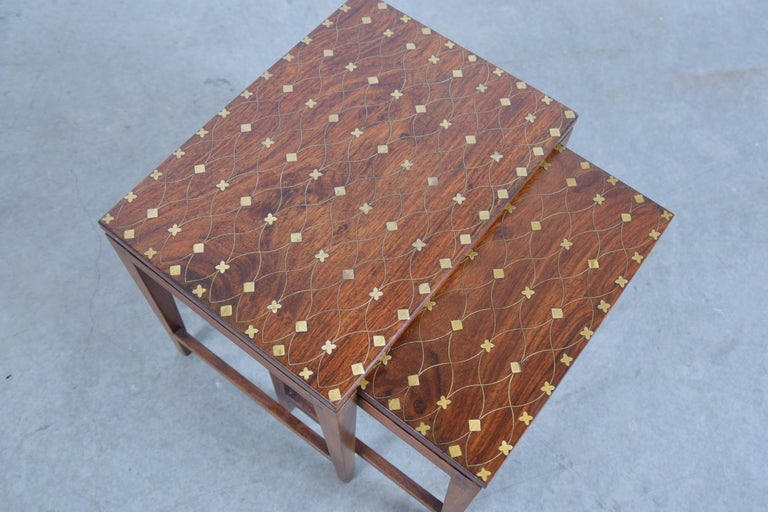 20th Century Diminutive Set of Nesting Tables by Leela Shiveshwarkar For Sale
