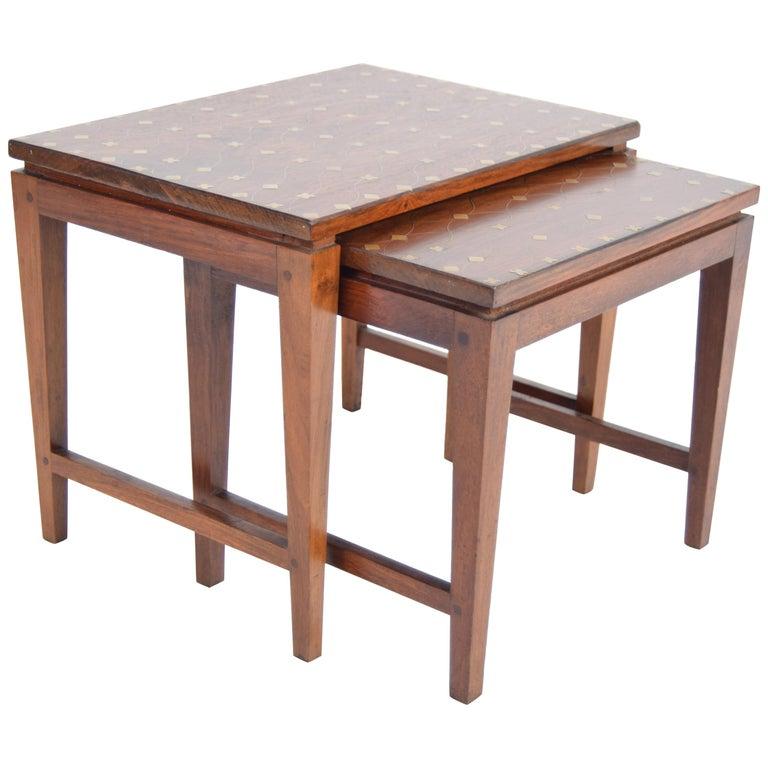 Diminutive Set of Nesting Tables by Leela Shiveshwarkar For Sale