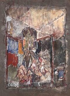 Flower Pot - Original Oil and Tempera by Dimitri Godicky Cwirko - 1968
