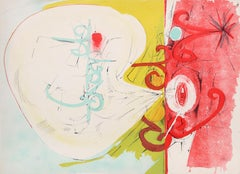Colorful Abstract Lithograph by Dimiti Petrov