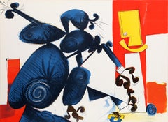 Colorful Surreal Abstract Lithograph by Dimitri Petrov