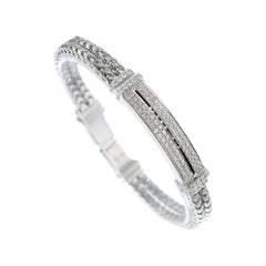DiModolo Quadria 1.03 Carat Diamond White Gold Two-Row Bracelet
