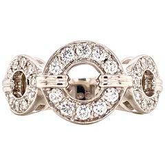 DiModolo Tempia Diamond 18 Karat White Gold Band Ring