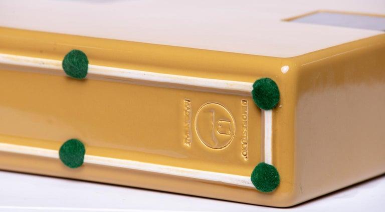 Italian Dimorestudio for Bitossi Ceramic Matte Gold and Brass Vase For Sale