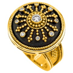 Dimos 18k Gold Byzantine Dome Ring with Brilliant Diamonds